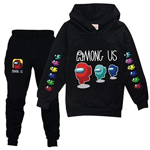 Dannel Children's Tracksuit Kids Anime Among Us Sweatshirt Pullover Hoodies+Pants 2pcs Set for Boy Sportsuit Girls Boutique Outfits