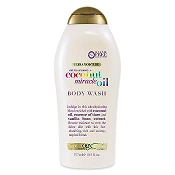 OGX Extra Creamy + Coconut Miracle Oil Ultra Moisture Body Wash 19.5 Fl Oz