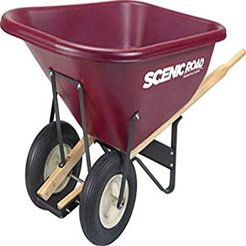 SCENIC ROAD Parts Box M10-2R 10 Cf Hd Poly 36' Wheelbarrow, Red