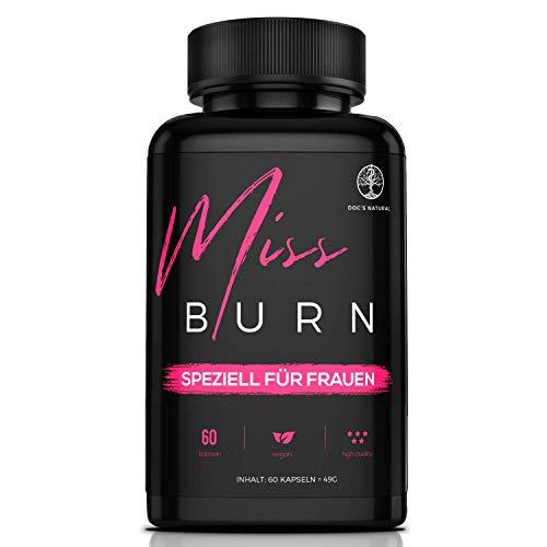 MISS BURN | Fettstoffwechsel & Diäthilfe | Speziell für Frauen | 60 Kapseln | Bewährter Formel mit L-Carnitin und Grapefruit-Extrakt