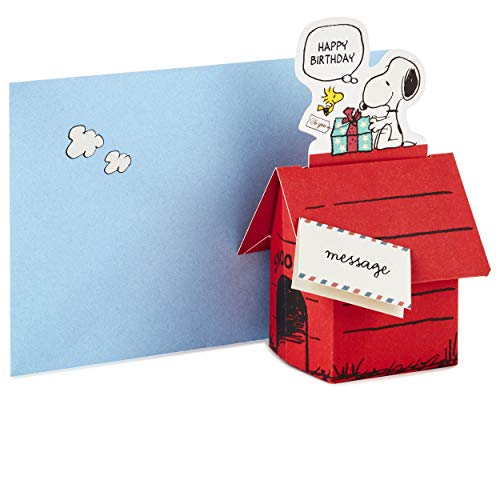 Hallmark Pop Up Peanuts Geburtstagskarte (Snoopy Dog House)