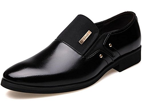 WUIWUIYU Men's Fashion Business British Slip-on Formal Dress Shoes Black...