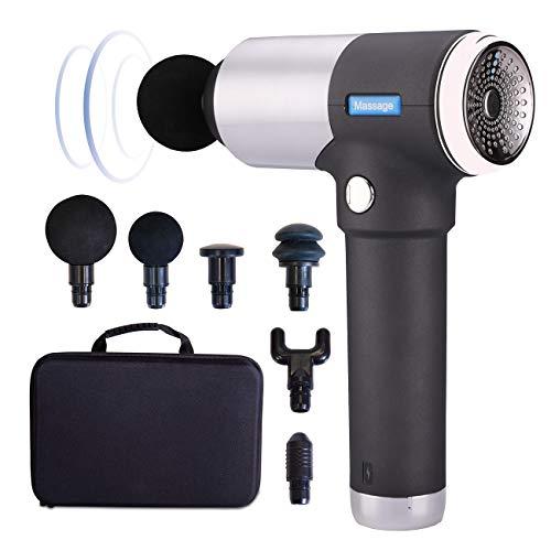 maxVitalis Muskel-Massagepistole, Massage Gun mit 6 Massageköpfe + 4 Geschwindigkeiten + Transportkoffer + Akku, Muskel-Massagegerät für Perkussions-Massage, Faszienpistole, Muskelentspannungs-Gerät