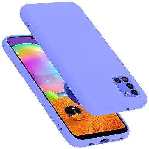 Cadorabo Custodia per Samsung Galaxy A31 in Liquid Lila Chiaro - Morbida Cover Protettiva Sottile di Silicone TPU con Bordo Protezione - Ultra Slim Case Antiurto Gel Back Bumper Guscio