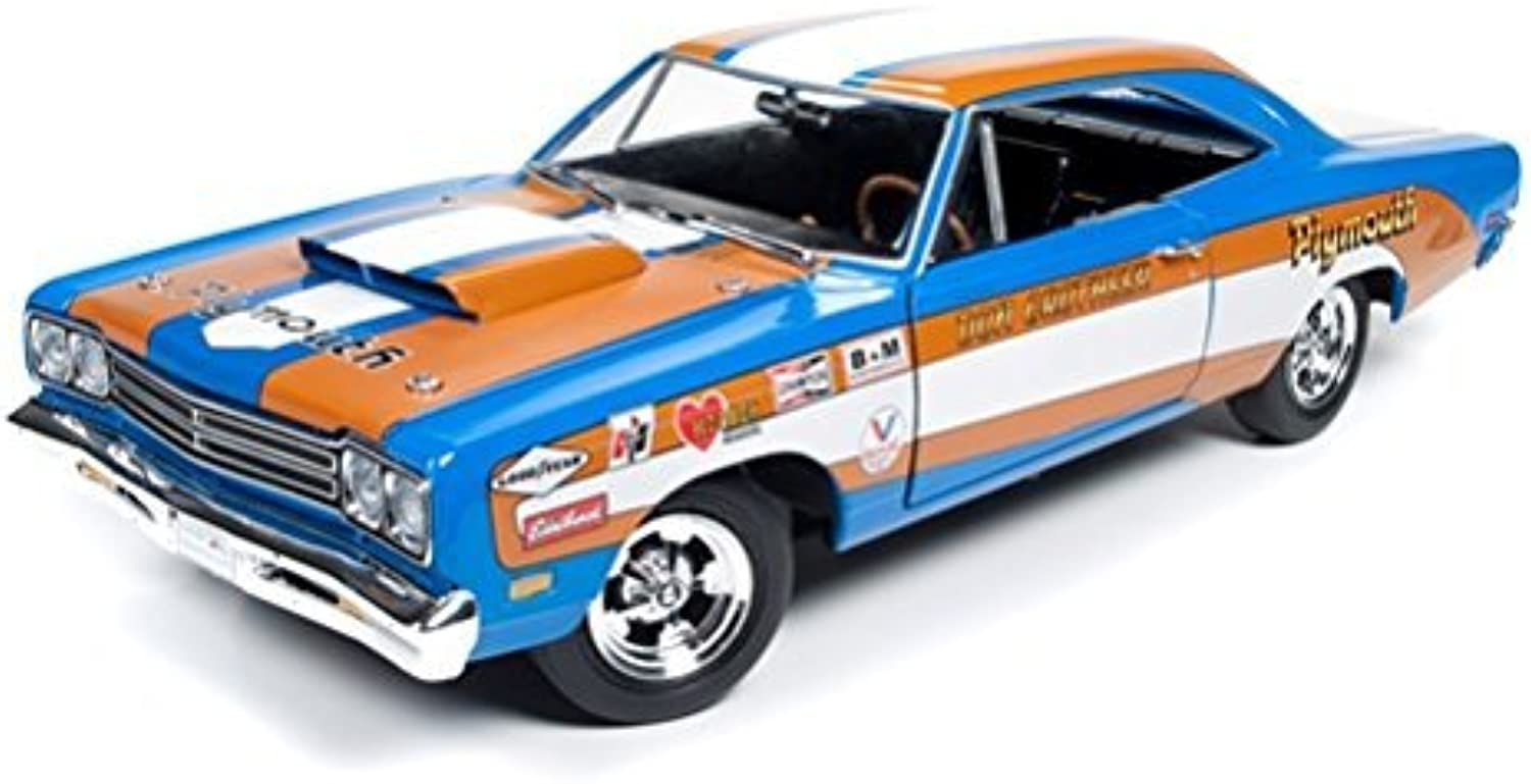 1969 Plymouth Roadrunner Hardtop Don Gredheer Limited Edition to 996pcs 1 18 by Autoworld AW220 by Plymouth