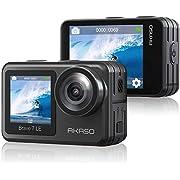 Caméra de Sport AKASO,Caméra d'action WiFi 4K 30FPS 20MP avec Écran Tactile et EIS 2.0,Caméra sous-Marine 40M avec Télécommande et 2 Batteries 1350mAh - Brave 7 Le