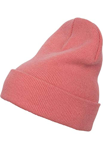 Flexfit Mütze Heavyweight Long Beanie Cap, Coral, one Size, 1501KC