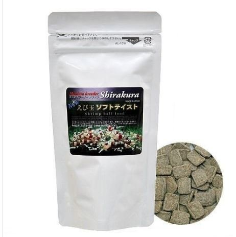 Shirakura Shrimp Food, Soft Pellets for 2-4 Months' Old Shrimps, Easy to Chew and Digest, Rich in Vitamins and Minerals, Provides Optimum Health for Crayfish, Pleco, Snail and Bottom Feeders