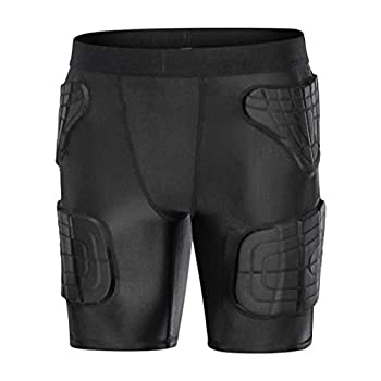 Youth Girls Snowboard Butt Pads Short Pants Padded Basketball Compression Tights Baseball Padded Shorts But Pads Black YM