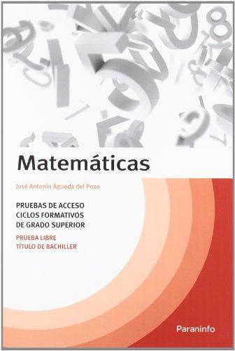 Temario matemáticas pruebas de acceso ciclos formativos grado superior
