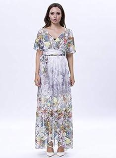 Opera Silk Empire Waist Dress for Women, Multi Color - 1713236