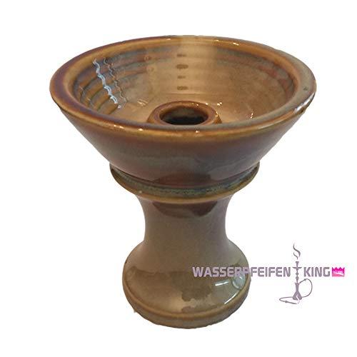 Laziza Shisha Tabakkopf Einloch Phunnel Tonkopf weiß lasiert für Wasserpfeife