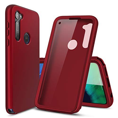 Cbus Schutzhülle für Motorola Moto G (kabellos, mit integriertem Bildschirmschutzfolie), Rot
