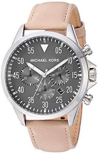 Michael Kors Womens Analoog Quartz Horloge met Lederen Band MK8616