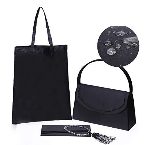 フォーマルバッグ 袱紗と数珠とサブバッグの4点セット撥水加工レディースフォーマル 冠婚葬祭 バッグ