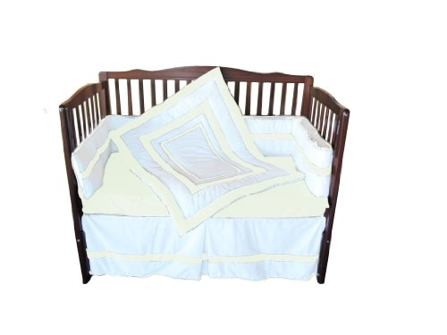 Baby Doll Bedding Modern Hotel Style Crib Bedding Set, Ivory