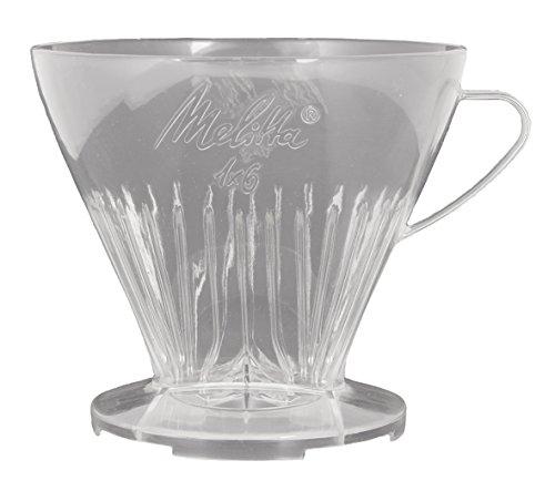 Melitta Kaffeehalter mit Kaffeemesslöffel, Kaffeefilter 1x6 Premium, Kunststoff, Transparent, 217601