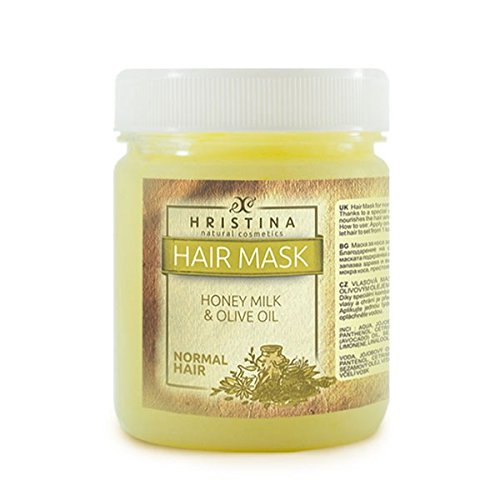 Luxus Haar Maske Honey Milk & Olive oil 100% NATURPRODUKT Haar tiefe Pflege mit Honig +Avokado Öl+ Neem Öl+ Jojoba öl Olivenöl 200 mll