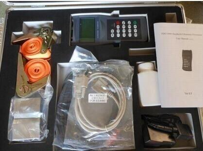 CGOLDENWALL 100H-M1+S1 Handheld Digital Ultrasonic Flow Meter Flowmeter 15-700mm