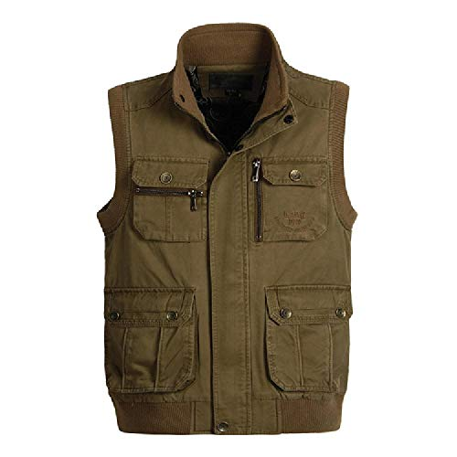 Veste de plein air pour homme printemps et automne multi poches - - XXL