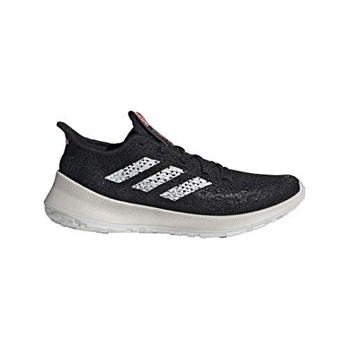 adidas Men's Sensebounce+ Summer.rdy Running Shoe, Black/White/Light Red, 11.5