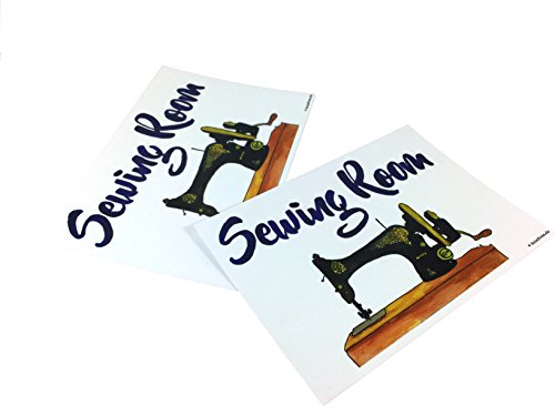 AnneSvea naaikamer naaien naaikamer ansichtkaart 2 stuks A6 druk naaimachine naaien handgemaakte decoratie
