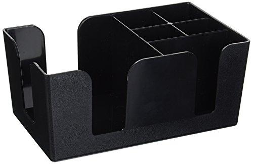 Winco BC-6 Bar Caddy with 6 Compartments,Black,Medium
