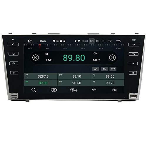 ROADYAKO pour Toyota Camry 2007 2008 2009 2009 2010 2011 Android 8.0 Autoradio Stéréo 9 Pouces avec Navigation GPS Lien de Miroir 3G WiFi RDS FM AM Bluetooth AUX Multimédia Audio Vidéo