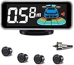 $36 » ELSNU 4 Parking Sensors kit Car Auto Vehicle Reverse Backup Radar System Distance Detection LCD Distance Display Sound War...