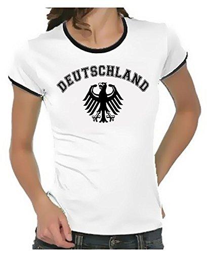 Deutschland Adler T-Shirt EM 2012 T-Shirt Weiss_RIGI DAMEN RINGER Gr.XL