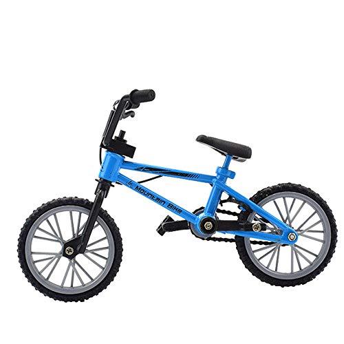 Mini Finger Bikes, Miniature Finger Mountain Bike, Functional Finger Mountain Bike, Novelty Toys Game, Creative Game Gift Toy(Blue Mountain Bike)