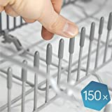 Plemont [Lot de 150] Capuchon du lave-vaisselle pour protéger les broches, Accessoires lave-vaisselle « Fabriqués en Allemagne » adaptables à tout panier lave vaisselle universel