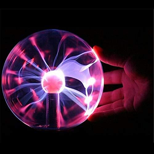 PLXTStore Neuheit-magisches Plasma-Nachtlicht USB reinigen Luft Glaskugel-Beleuchtung Blitzlampe for Haupt Schlafzimmer Dekoration Weihnachtsgeschenk (Color : A)