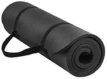 BalanceFrom BFGY-AP6BLK Go Yoga All Purpose Anti-Tear Exercise Yoga Mat with Carrying Strap Black One Size
