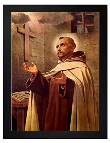 quadro católico são joão da cruz tamanho 35x25cm com moldura e vidro