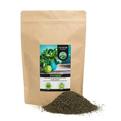 Menta (125g), hojas de hierbabuena cortadas, té de hierbabuena secada suavemente, té de hierbas 100% puro y natural