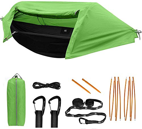 GFSDGF Hamaca de Camping con mosquitera y Hamaca portátil Liviana, Hamaca de Dormir, Viajes de mochilero al Aire Libre