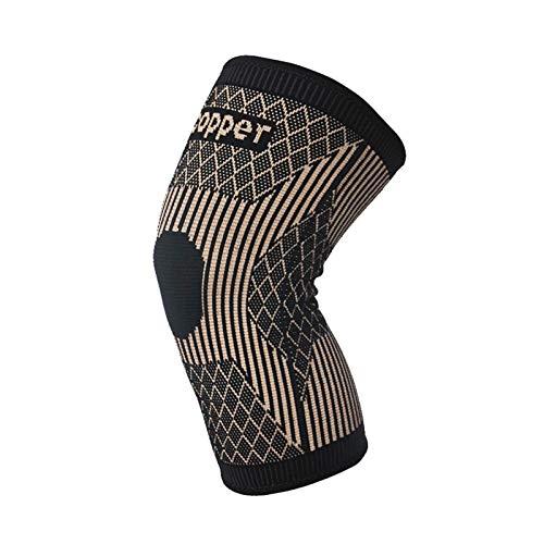 POHOVE Rodilleras de cobre para hombres y mujeres, rodilleras de compresión de cobre, rodilleras protectoras para artritis, desgarro de meniscos, deportes, correr y entrenar