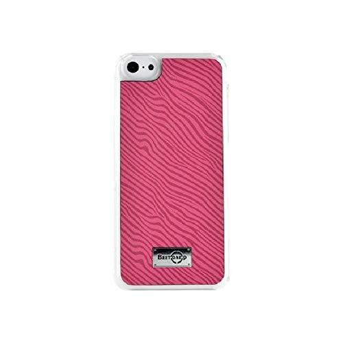 blueway COQUEZEBREIP5CP - Custodia Rigida per iPhone 5/5s/5c, Motivo zebrato, Rosa