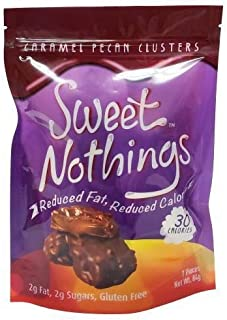 ChocoRite - Sweet Nothings - Caramel Pecan Clusters - 7 Pieces/Bag - Low Calorie - Low Fat