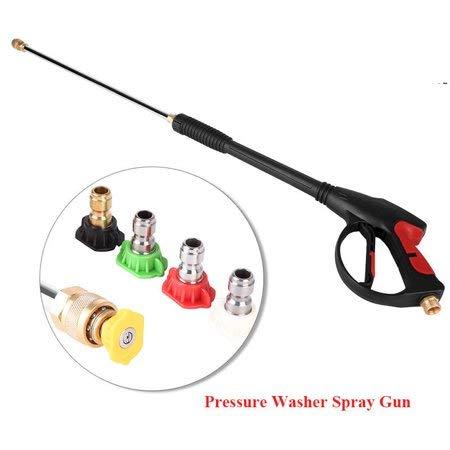 Pistola lavadora de alta presión con 5 boquillas 4000PSI Pistola para hidrolimpiadora 1/2