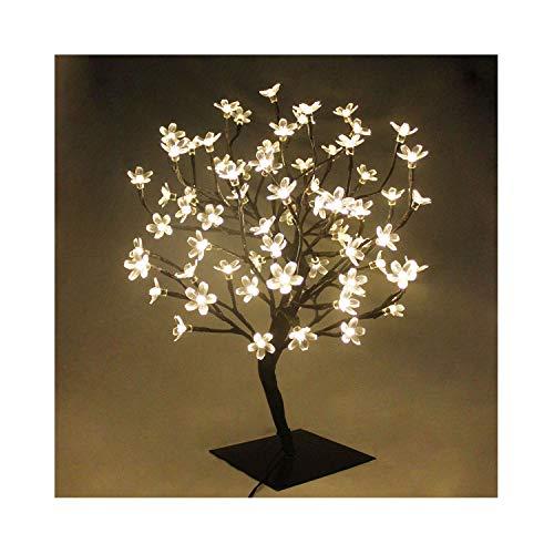 60cm LED Baum Bäumchen Mit 90er Blüten Blütenbaum Kirschbaum Lichterbaum Baum für Weihnachten Hochzeit Partei Innen Dekoration (Warmweiß)