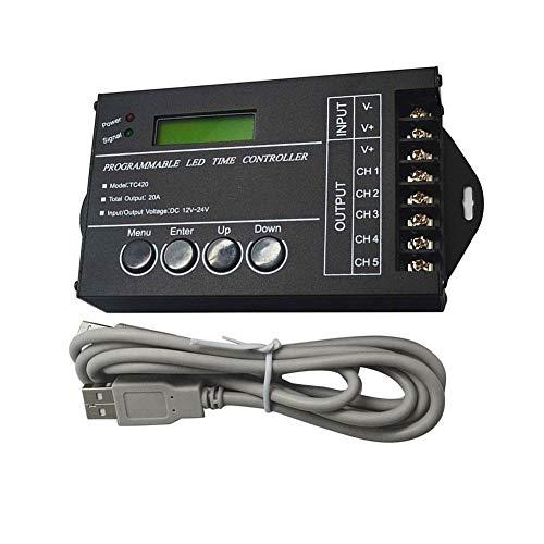 Nicejoy Conductor de LED Controlador de Tiempo Temporizador programable Tc420 5 Canal...