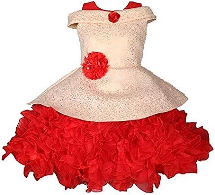 My Lil Princess Baby Girls Birthday Frock Dress_Orange Butterfly_1-2 Years