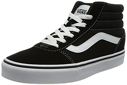 Vans Ward Hi, Zapatillas Altas para Mujer Negro ((Suede/Canvas) Black/White Iju) 38 EU