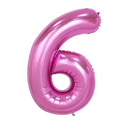 Número 32 Pulgadas De Aluminio 6 Globos Colgantes Globo Film Foil Números Grandes En Globo Para Bodas Rosado Fiesta De Cumpleaños