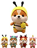 CASAGOOD Squirrel-Bee Stuffed Animal, Squirrel Wearing Bee Costume,Plushies Chipmuck Dressed as Cute Honeybee Funny Plush Toys Chipmuck for Kids Stuffed Animals Gift for Lover 10 Inch
