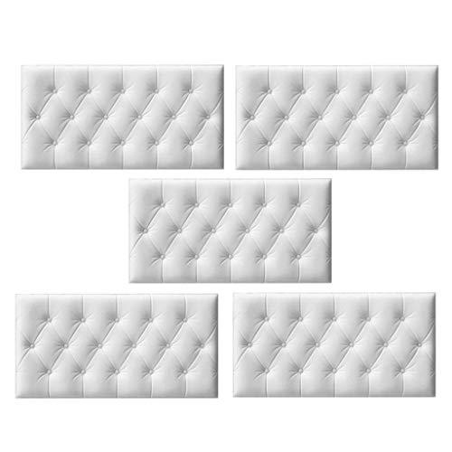 PETSOLA 5X Paneles De Papel Tapiz 3D Estera De Aislamiento Térmico para Cama De Dormitorio De Oficina En Casa