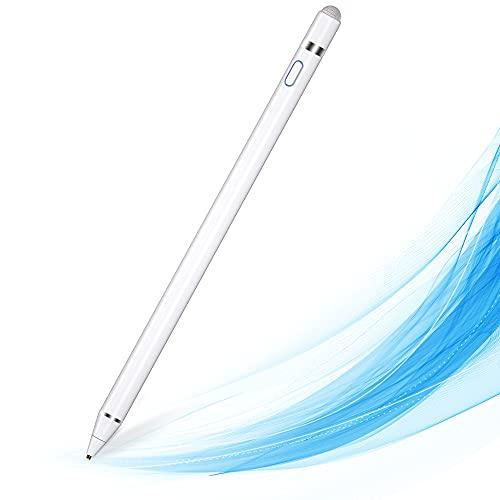 MPIO Stylus Stift, Kompatibel mit iPads/Tablets/iPhones/Samsung/Lenovo/LG/HTC,Wird zum Zeichnen und Schreiben von Touchscreen-Smartphones und -Tablets verwendet Weiß