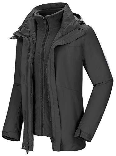 CAMEL CROWN Skijacken Damen Winterjacke Wanderjacke Regenjacken Full Zip mit Fleece-Futter mit Winddicht Wasserdicht Für Outdoor Camping Bergsteigen Wander